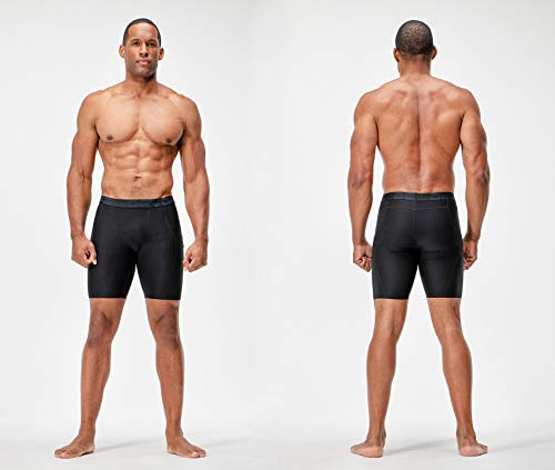 DEVOPS Men's 3 Pack Sports Performance Active Compression Cool Dry Baselayer Shorts