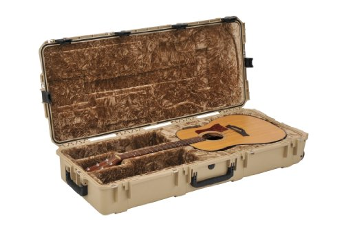 SKB Injection Molded Acoustic Guitar Case - TSA Latches, with wheels - TAN (3i-4217-18-T)