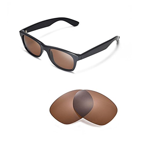 Walleva Replacement Lenses for Ray-Ban Wayfarer RB2132 52mm Sunglasses - 5 Options Available (Brown - - Ray Yellow Wayfarer Bans