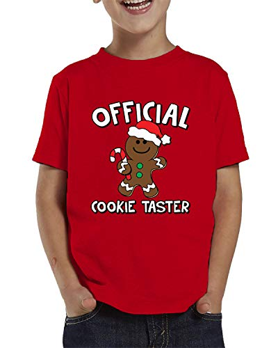 SpiritForged Apparel Official Cookie Taster Toddler T-Shirt, Red 3T (Rudolph Cookie)