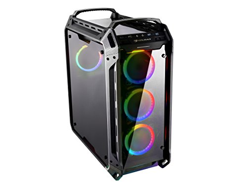 (Cougar Panzer EVO RGB Black ATX Full Tower RGB LED Gaming Case with)