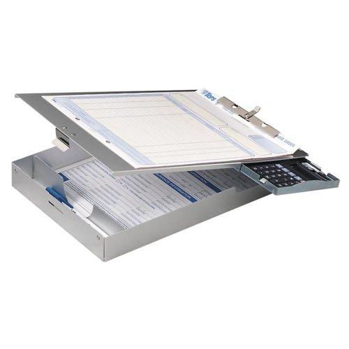Wholesale CASE of 5 - Officemate Aluminum Storage Form Holder w/ Calc.-Aluminum Form Holder w/1