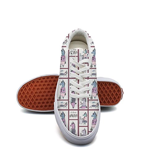 Milr Gile live unicorn Print Sneaker Flat Canvas Shoes for Womens Stylish