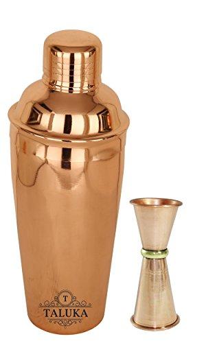Taluka Copper Polish Steel Cocktail Wine Shaker 750 ML - Mixing & Serv