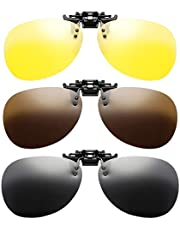 CLISPEED 3-Delige Clip-On Zonnebril Gepolariseerde Lens Voor Brillen Op Sterkte Bril Unisex Uv-Bescherming Zonnebril