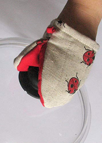 Oven Mit Ladybug Quilted Oven Glove Red Black Kitchen Decor Insulated Pot Holder ()