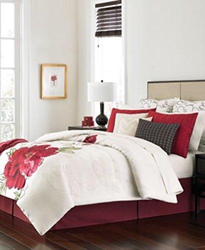 Martha Stewart Collection 14 pc. King Comforter Bedding Set Poppy Red (Martha Stewart Poppy)
