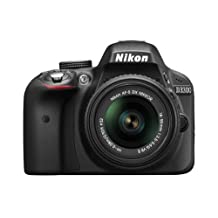 Nikon D3300 24.2 MP CMOS Digital SLR Camera with 18-55mm Zoom Lens - Black
