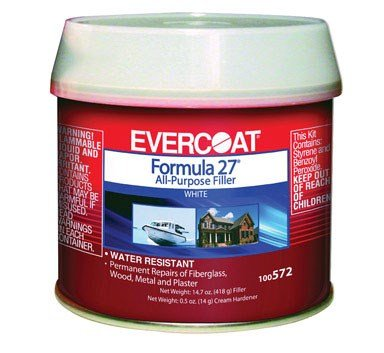 Formula 27 Filler - Fibre Glass Evercoat 100572 Formula 27 - 1/2 Pint Can
