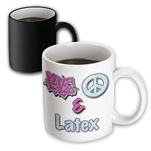 Blonde Designs Love Peace And In Pastel Blue and Purple - Love Peace And Latex Pastel Blue and Purple - 11oz Magic Transforming Mug (mug_122401_3)