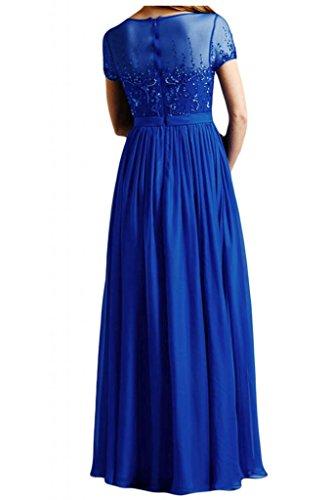 Toscana sposa alla moda a maniche corte da sera abito lungo Chiffon madre festa un'ampia ball abiti da sposa