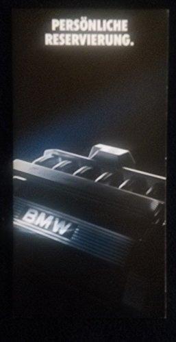 1990c. BMW 520 i / 525 i *PERSÖNLICHE RESERVIERUNG* VINTAGE COLOR SALES BROCHURE/MAILER - GERMAN - GREAT ORIGINAL !! (Sales Bmw Brochure)
