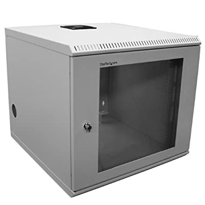 StarTech.com 2 Post Wall Mount Network Switch Cabinet - 10U Mounting Rack Cabinet - Secure & Enclosed - Locking - 10U Equipment Rack - (CAB1019WALL)