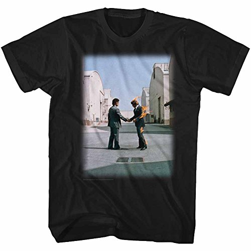 (Pink Floyd T-Shirt Wish You were Here Album Cover Black Tee, Medium)