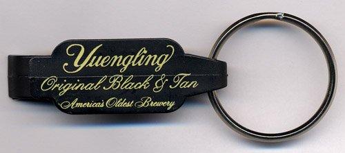Yuengling Brewery Black & Tan Dual Function Plastic Beverage Opener Keychain