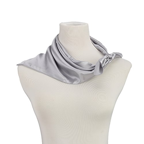 (Women Neck Square Scarf Bank Clerk Airline Stewardess Satin Bandana Neckerchief)