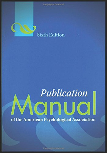 Buy cheap publication manual the american psychological association 6th