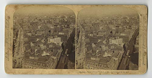 View Birdseye Photo Real - 19th Century New York - Stereoview Photo - Birdseye View from World Building