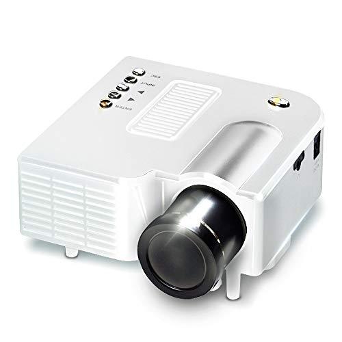 KawKaw Mobiler Mini Beamer mit LED Projektor für Ihr Heimkino Home Cinema, unterstützte Auflösung bis 1024×768, ideal…