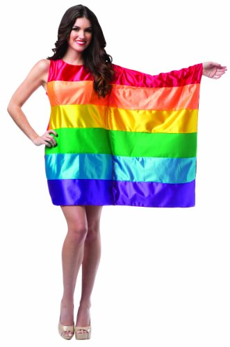 Rasta Imposta Women's Flag Dress Rainbow, Multi, Fits Sizes 4-10 for $<!--$18.61-->
