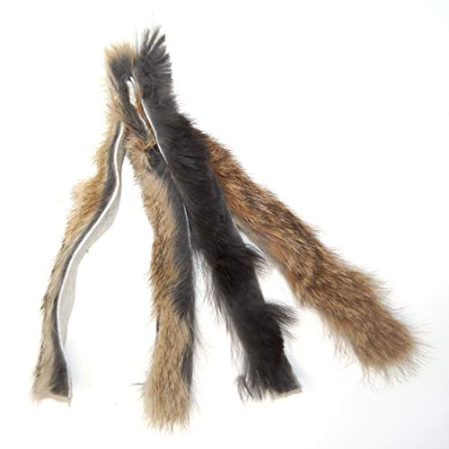 CoolCyberCats Ribbon, Leather and Fur Attachment Cat Toys - Fit Wildcat and Popular Bird and Catcher Type Wands/Poles (Rabbit Fur Chaser) ()