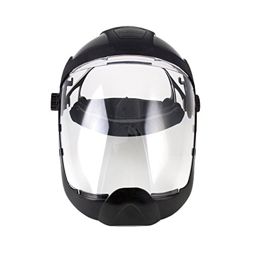 Sellstrom S32210 Clear Anti-Fog Polycarbonate Faceshield with Extended Chin Guard, Ratchet Headgear, ANSI Compliant (Shield Chin Guard)
