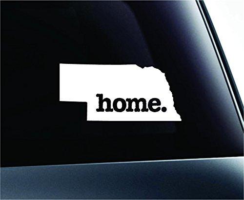 Home Nebraska State Symbol Decal Funny Car Truck Sticker Window (White), Decal Sticker Vinyl Car Home Truck Window Laptop