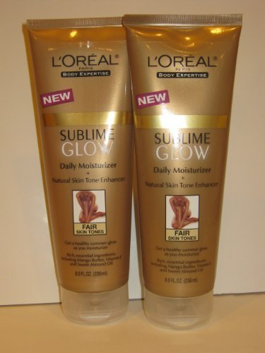 Price comparison product image L'oreal Sunless Sublime Glow Daily Moisturizer, Fair Skin Tones 8 Fl Oz - Pack of 2