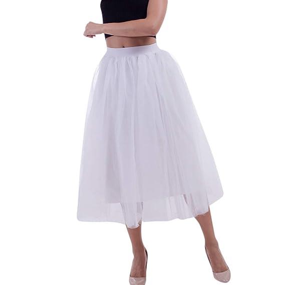 9a084ef3f FAMILIZO Faldas Largas Y Elegantes Faldas Cortas Mujer Verano Faldas Mujer  Invierno Primavera Vestidos Mujeres Más Tamaño Malla Tul Falda Plisada ...