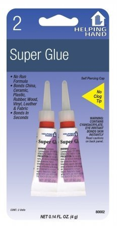 Helping Hand 80002 .07 Oz Super Glue 2 Count by Helping Hands 0.07 Ounce Super Glue