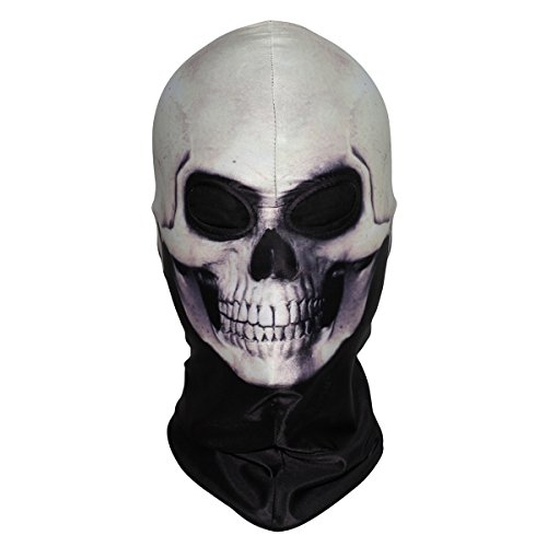 (WTACTFUL 3D Skeleton Lycra Masks Scary Skull Balaclavas Ghost Headwear Cosply Costume Halloween Party Ski Full Face)