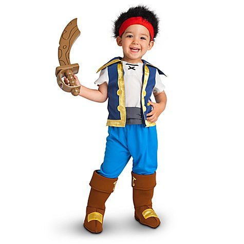 Disney Store/Disney Junior Jake and the Never Land Pirates Jake Halloween Costume for Toddler Boys Size 4T