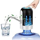 Sendowtek Dispensador de Bomba de Agua, Recargable Dispensador de Agua Automático Eléctrico, Succión Dispositivo Universal Suministro de Agua para Botella de Oficina y Hogar con Carga USB