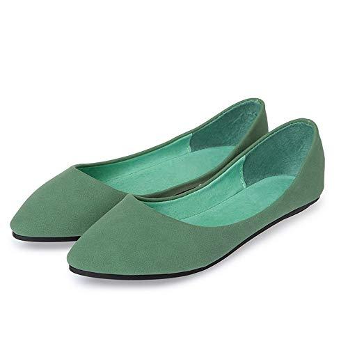 FLYRCX Los Zapatos Planos Respirables cómodos de la Manera Ocasional Solo Calzan los Zapatos Planos del Trabajo de Oficina de Las señoras los Zapatos Puntiagudos de la Boca Baja, 36 UE 37 EU