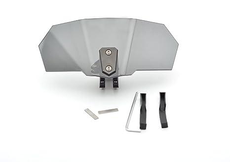 Tencasi Deflector de viento ajustable universal adecuado para cualquier motocicleta con parabrisas