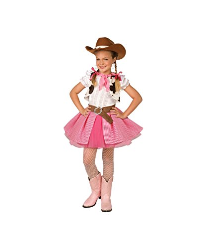 Girls Cowgirl Cutie Costumes (Western Cowgirl Cutie Kids Costume (Medium (8-10)))