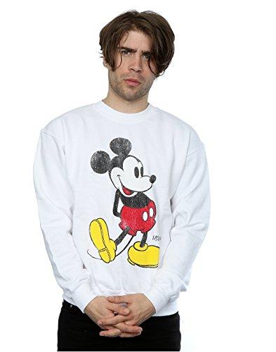 Disney Men's Mickey Mouse Classic Kick Sweatshirt Large White for $<!--$23.67-->