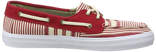 Vans Chauffette SF, Baskets Basses Femme Rouge (Multi Stripe/Chili Pepper)
