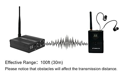 TP-WIRELESS 2.4GHz Professional In-ear Digital Wireless Stage audio Monitor System (1 Transmitter and 2 Receivers) by TP-WIRELESS (Image #4)
