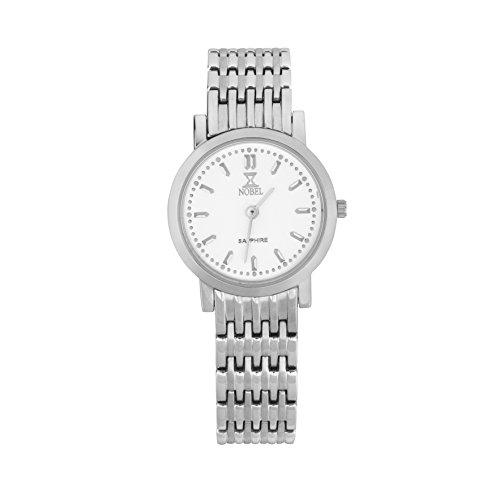 NOBEL Classy Elegant Wristwatch with Stainless Steel Bracelet for Women - Swiss Quartz Movement