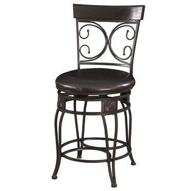 - Powell Big and Tall Back to Back Scroll Counter Stool