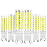 G9 LED Light Bulb 7W Dimmable 50W 60W Halogen Bulbs Equivalent Daylight White 6000k AC120V Lamp G9 Bi Pin Base, Non-Flicker, 360°Beam Angle, Pack of 6 Yuiip