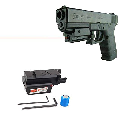 IORMAN Original Tactical Red Dot Laser Sight for Pistol/Handgun Scopes Bore Sight Aiming Shooting Testing with Adjustable Mount Rail