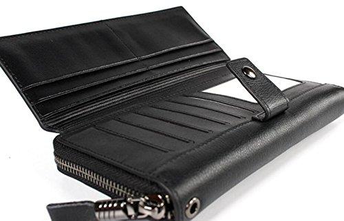 Herren Geldbörse Clutch Bag Ledertasche Business Bag Zipper Bag Geburtstagsgeschenk Blue