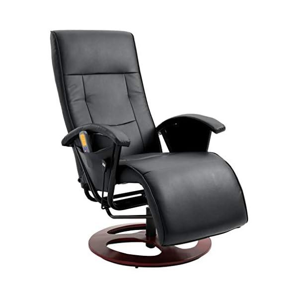vidaXL Fauteuil de Massage Fauteuil de Relaxation Electrique Fauteuil Shiatsu Salon Sqlle de Séjour Maison Intérieur…