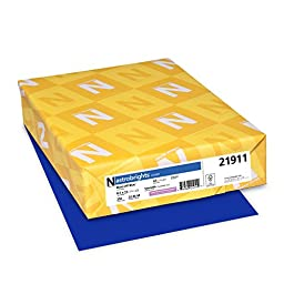 Neenah Astrobrights Premium Color Card Stock, 65 lb, 8.5 x 11 Inches, 250 Sheets, Blast-Off Blue