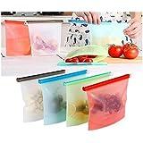 Porta Saco Alimento Silicone Reutilizável Freezer Microondas