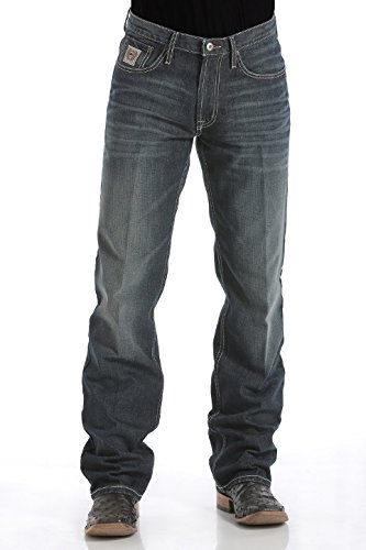 Cinch Jeans White Label Relaxed Fit jeans (35x34, Dark Stonewash 019)