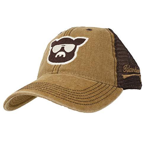 (Islanders Pig Face Trucker Hat, Camel/Brown (CML/BRN), One)
