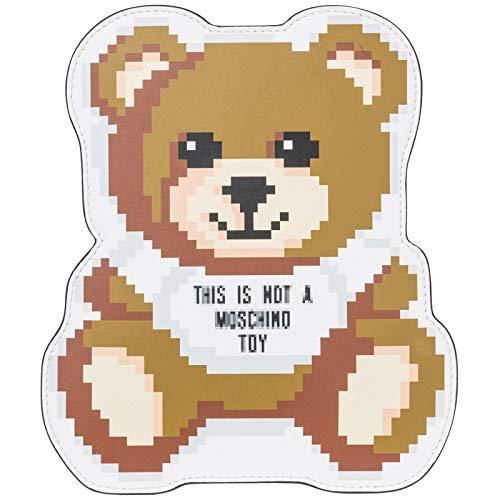 Bianca Clutch - Moschino women Teddy Bear Pixel clutch bag bianco